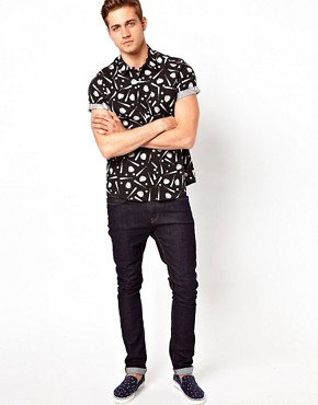Image 4 ofASOS Shirt With Baseball Print
