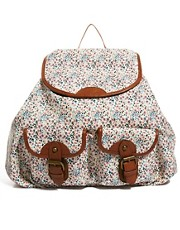Aldo Ciaradullo Floral Canvas Backpack