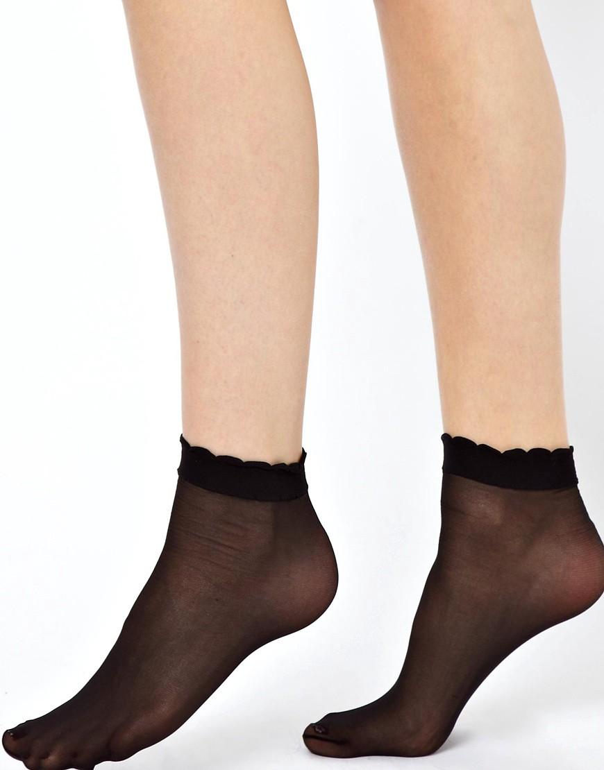 Image 2 ofASOS Sheer Frill Ankle Socks