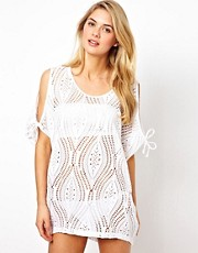 ASOS Lace Cut Out Shoulder Beach Cover Up