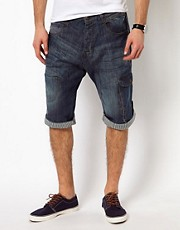 Ringspun Shorts Long Denim
