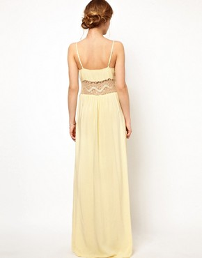 Image 2 ofJarlo Maxi Dress with Lace Inserts and Button Detail
