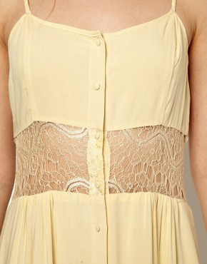 Image 3 ofJarlo Maxi Dress with Lace Inserts and Button Detail