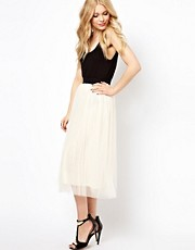 Beloved Midi Skirt With Pearl Embellishment