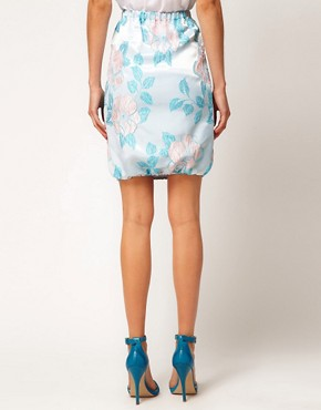Image 2 ofASOS Premium Pencil Skirt in Pastel Floral