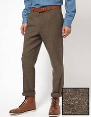ASOS Slim Fit Suit Trousers in Tweed