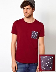 ASOS T-Shirt With Star Print Pocket