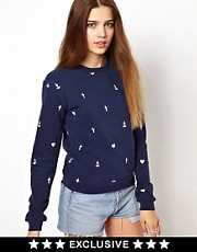 A Question Of Faith Hope Love Organic Sweatshirt Exclusive To Asos