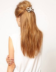 ASOS Pearl Bow Hair Barrette
