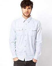 Lee Denim Shirt Western Slim Fit Blue Frost