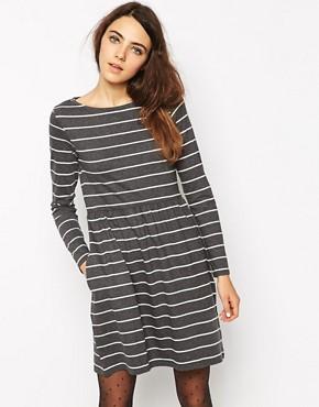 People Tree Organic Cotton Stripe Skater Dress