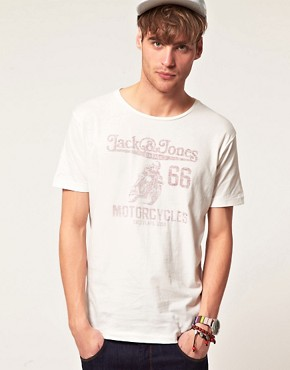 Image 1 ofJack &amp; Jones Vintage Motorcycles T-Shirt