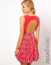ASOS PETITE Exclusive Lasercut Dress With Cut Out Back