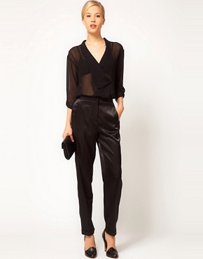 Image 1 ofASOS Satin Tux Trousers