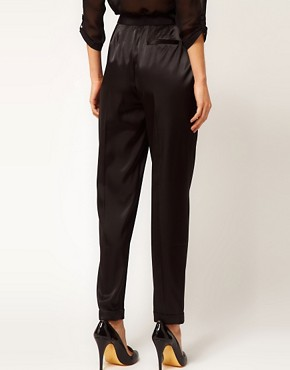 Image 2 ofASOS Satin Tux Trousers