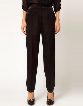 Image 4 ofASOS Satin Tux Trousers