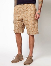 Universal Works  Chino-Shorts mit Paisleymuster