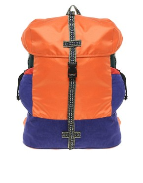 Image 1 ofASOS Colour Block Aztec Backpack
