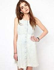 Somedays Lovin Swing Dress in Faded Chambray Gingham