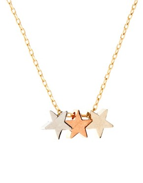 Image 4 ofOrelia Three Little Stars Necklace