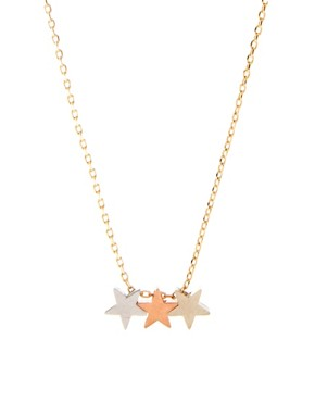 Image 1 ofOrelia Three Little Stars Necklace