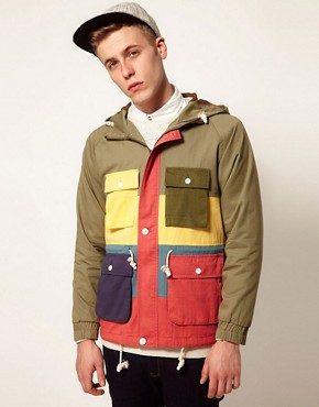 Image 1 ofSelf Multi Stripe Loathing Jacket