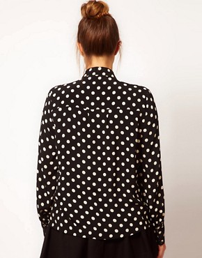 Image 2 ofASOS CURVE Shirt in Spot Print