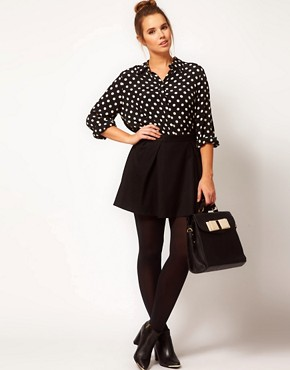 Image 4 ofASOS CURVE Shirt in Spot Print