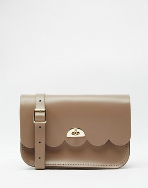 The Cambridge Satchel Company Leather Small Cloud Scallop Edge Bag