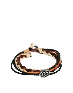 Image 1 ofIcon Brand Leather Bracelet