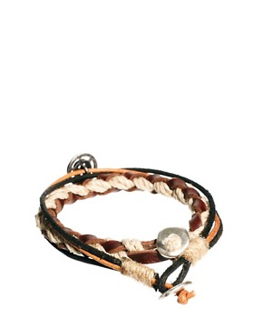 Image 2 ofIcon Brand Leather Bracelet