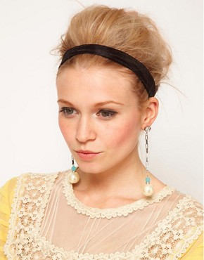 Image 2 of ASOS Pearl Chain Drop Earrings