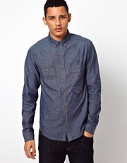 10 Deep Shirt Chambray Camo Elbows