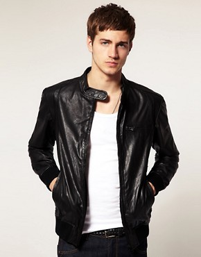 Image 1 ofSelected Alex Leather Jacket