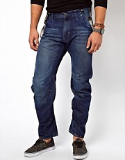 G Star Jeans Arc 3D Loose Tapered Medium Aged With Braces