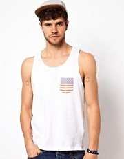 Brave Soul Vest USA Flag Pocket