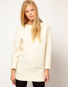 Image 1 ofVanessa Bruno Ath Dress in Wool Bouclette