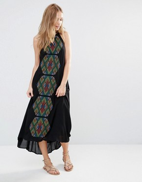 Piper Bima Embroidered Maxi Dress