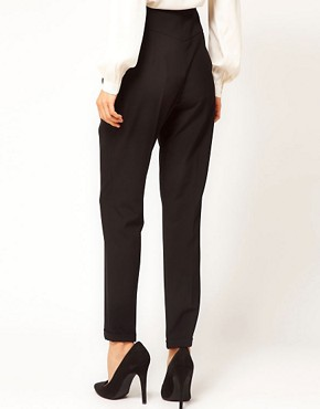 Image 2 ofASOS High Waist Evening Trousers