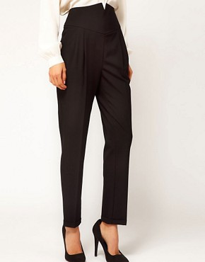 Image 4 ofASOS High Waist Evening Trousers