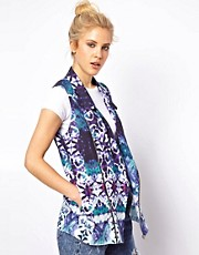 ASOS Sleeveless Jacket in Abstract Print