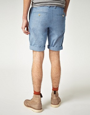 Image 2 ofMinimum Jett Chambray Shorts