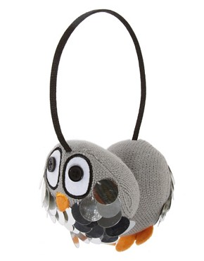 Image 1 ofASOS Penguin Sequin Earmuffs