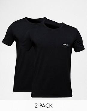 Hugo Boss 2 Pack Cotton Stretch T-Shirt In Regular Fit