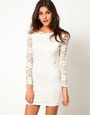 ASOS Bodycon Lace Dress with Off Shoulder