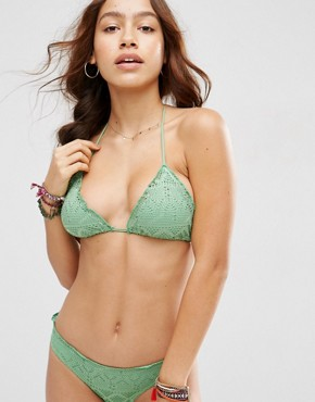 ASOS Mix and Match Crochet Lace Micro Brazilian Triangle Bikini Top