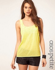 ASOS PETITE Spray Embellished Cross Back Cami