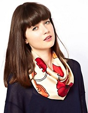 Barbour Poppy Silk Square Scarf