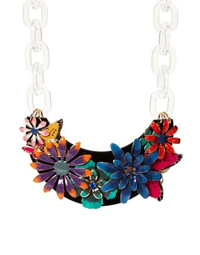 Image 1 ofASOS Darling Buds Flower Necklace
