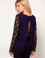 ASOS Lace Sleeve Jumper